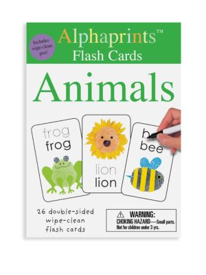 Alphaprints Wipe Clean Flash Cards Animals