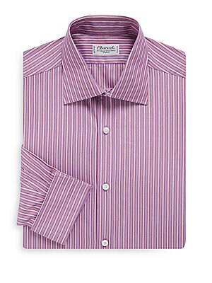 Charvet. Regular-Fit Bold Stripe French Cuff Dress Shirt