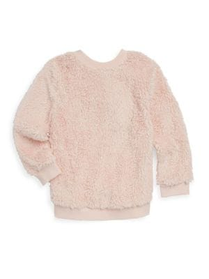 Girls Sherpa PullOn Sweater