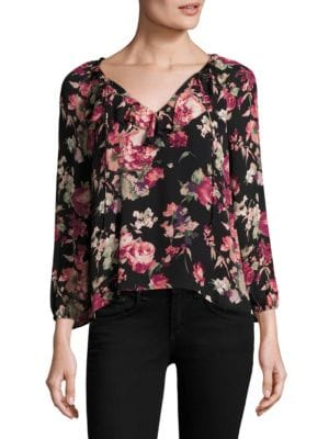 Nadege Floral Silk Blouse by Joie