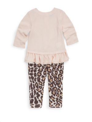 Baby Girls Leopard Printed Top  Leggings Set