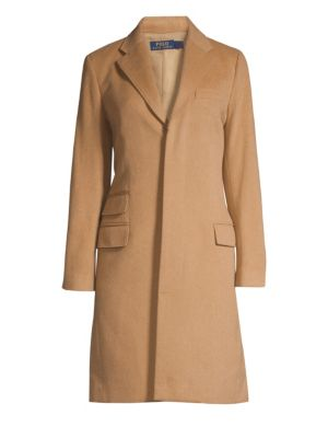 Wool & Cashmere Trench Coat, Camel