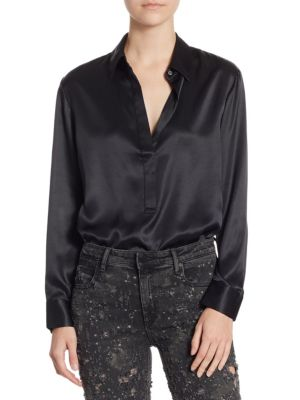 Long Sleeve Blouse Bodysuit by T by Alexander Wang