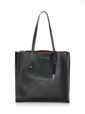 The Grind East/West Leather Shopper - Black
