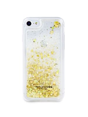 Floating Glitter Iphone 7/8 Case, Gold