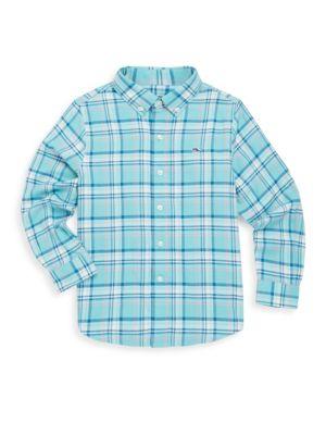 Toddlers Little Boys  Boys Loblolly Plaid Cotton ButtonDown Shirt