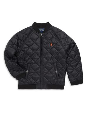 Toddlers Little Boys  Boys Quilted Baseball Jacket