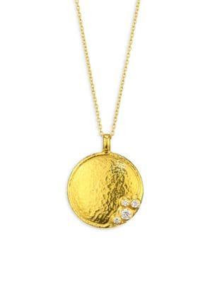 Gurhan Pointelle 24K Yellow Gold & Diamond Pendant Necklace