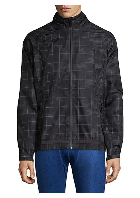 """Image of From the Run Collection. Comfyjacket with insulation system for all day comfort and style. Mockneck. Long sleeves. Elasticized cuffs. Exposed front zip. Side welt pockets. Polyester/spandex. Machine wash. Imported. SIZE & FIT. Regular fit. About 28"""" from"""