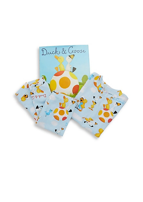 Little Boys Duck  Goose Pajama and Book Set