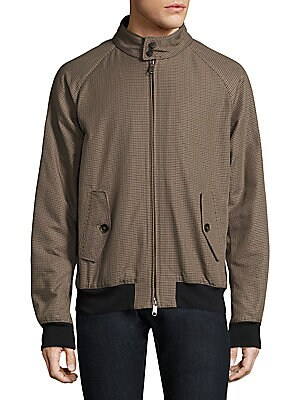 Image of Printed jacket accented with back storm flap Stand collar with button closure Long raglan sleeves Rib-knit cuffs and hem Concealed front zip Front button flap pockets Back storm flap Polyamide Machine wash Made in Italy. Men Adv Contemp - Contemporary Out
