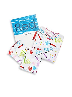 Image of Red's a factory-applied label clearly says that he is red, but despite the best efforts of his teacher, fellow crayons and art supplies, and family members, he cannot seem to do anything right until a new friend offers a fresh perspective. All set for gif