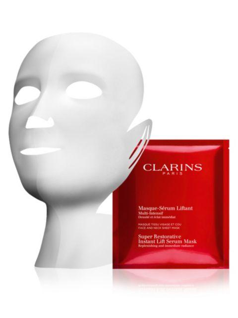 Clarins 5-Pack Super Restorative Instant Lift Serum Masks | SaksFifthAvenue