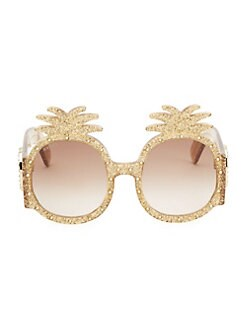 e8ae36556cb79 53MM Pineapple Sunglasses GOLD. QUICK VIEW. Product image. QUICK VIEW. Gucci