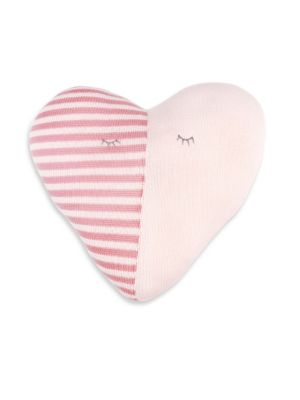 Cotton Heart Pillow Rattle