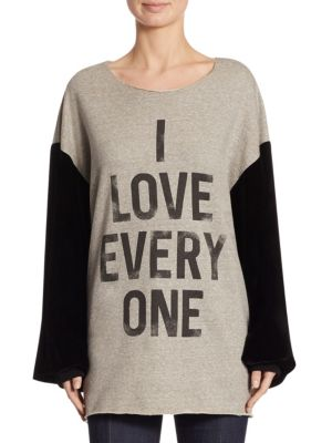 I Love Everyone Dropped Shoulder Sweater by