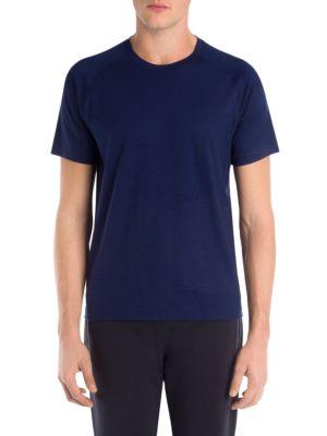 Z ZEGNA Crewneck Raglan-Sleeve T-Shirt in Blue
