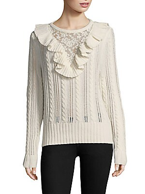87a4e71e6dca Nightcap Clothing - Lace Inset Sweater - saks.com