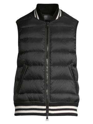 G/FORE Ribbed Puffer Vest in Black
