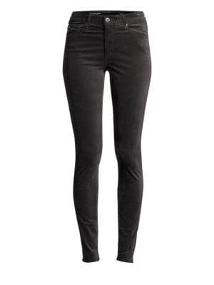 Jeans Super Skinny Velvet Leggings In Climbing Ivy in Wine