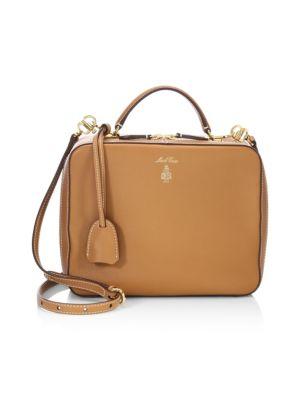 Laura Leather Crossbody Bag, Luggage