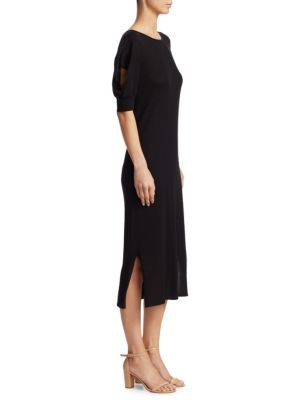 Cutout Elbow Sleeve Dress by Akris Punto