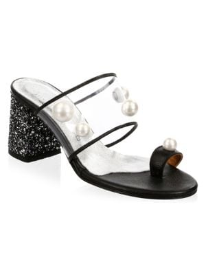 ELINA LINARDAKI Zero Gravity Toe Ring Sandals in Black