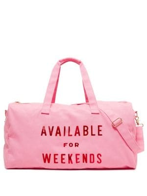 Available For Weekends Getaway Duffel Bag by Ban.Do
