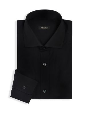 Z Zegna  Solid Soft Touch Button-Down