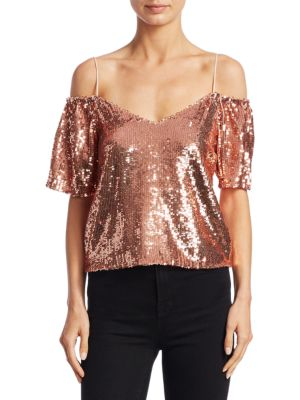 Agatha Cold-Shoulder Top by Alice + Olivia