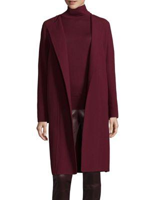 Naveah Open-Front Velvet Jacket, Shiraz