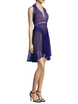 THURLEY Riddle Fit-&-Flare Dress in Royal Blue