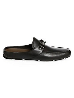 337970b8aed Salvatore Ferragamo. Duca Leather Backless Loafers