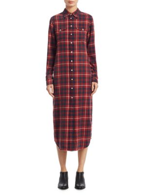 Cowboy Plaid Cotton Shirtdress