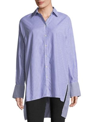 Lakehouse Oversized Cotton Button-Down Shirt by Free People