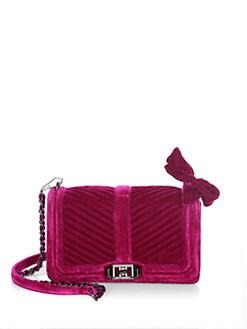 a0edee57e0da Rebecca Minkoff Love Small Chevron Quilted Velvet Crossbody Bag from ...