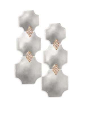 STEPHANIE KANTIS Overture Triple Drop Earrings in White
