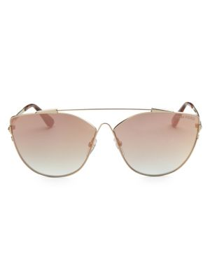 794449eef0ad Tom Ford Jacquelyn 64Mm Cat Eye Sunglasses - Gold  Light Brown Mirror In  Nocolor