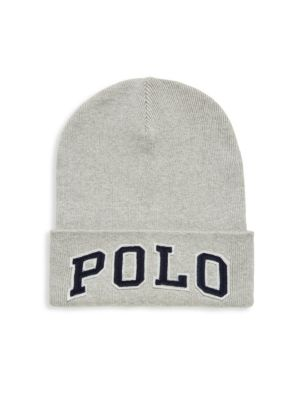Image of Soft cotton beanie with contrasting logo patch. Cotton. Dry clean. Imported.