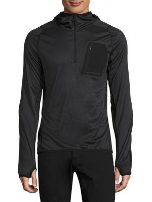 J. LINDEBERG Active Hooded Running Jacket in Black