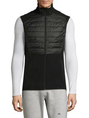 J. LINDEBERG Active Hybrid Zippered Vest in Black