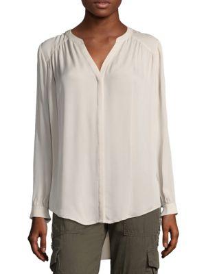 Yaritza Long Sleeve Silk Blouse by Joie