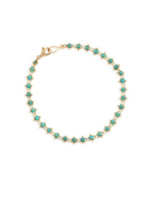 AMALI Turquoise & 18K Gold Chain Bracelet in Yellow Gold