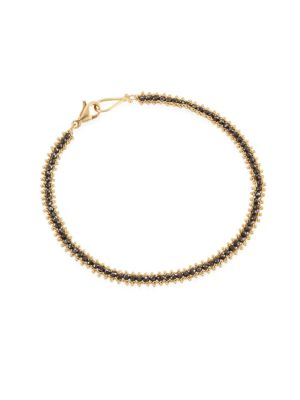 AMALI Black Diamond & 18K Gold Bracelet in Yellow Gold