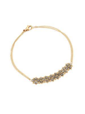 AMALI Grey Diamond & 18K Gold Bracelet in Yellow Gold