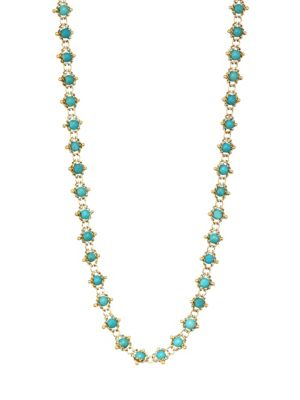 AMALI Turquoise & 18K Gold Chain Necklace in Yellow Gold