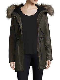 f2296c28d5f7 Product image. QUICK VIEW. Sam. Long Hudson Military Raccoon Fur Coat
