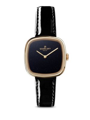 Shinola Eppie Sneed PVD Gold, Stainless Steel & Patent Leather-Strap Watch