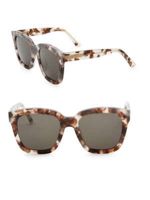Image of Finish your casual style with these patterned sunglasses.52.9mm lens width, 152mm temple length.100% UV protection. Saddle nose bridge. Acetate. Imported.