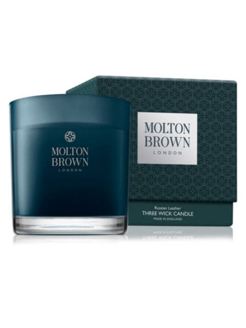 Molton Brown Russian Leather Three-Wick Candle | SaksFifthAvenue